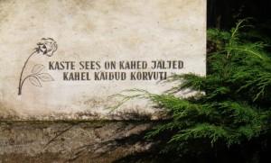 Mustvee surnuaias hauakivi